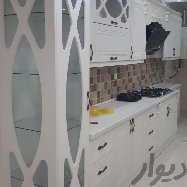 تحویل۴روزه کابینت۵متری ممبران و هایگلاس آشپزخانه تهران جنتآباد شمالی دیوار