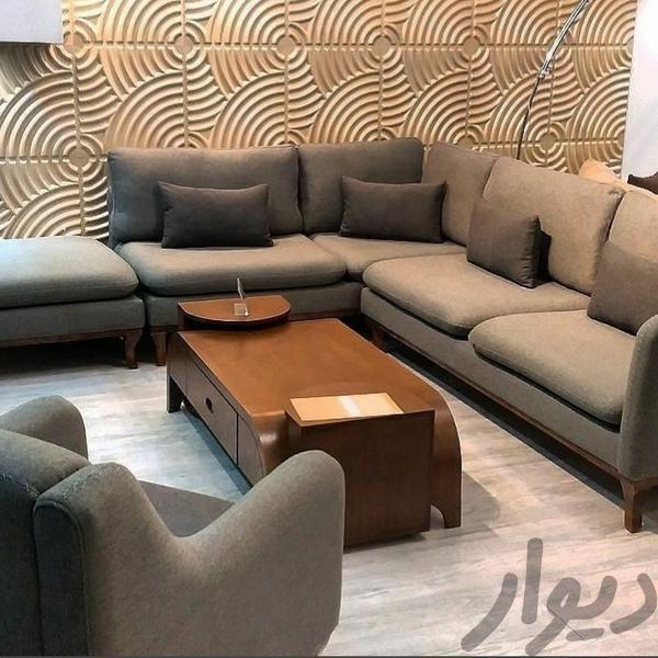 مبل راحتی مدل ال ساندرا شرکتی اصل کامل با تک و پاف مبلمان و صندلی راحتی تهران، اتحاد دیوار