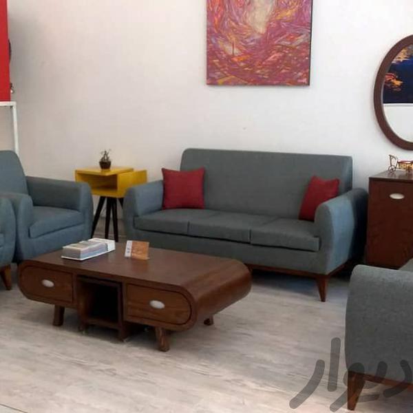 مبل راحتی کم جا مدل النا تشک دوبل پاسنگ چوبی ۷نفره مبلمان و صندلی راحتی تهران، اتحاد دیوار