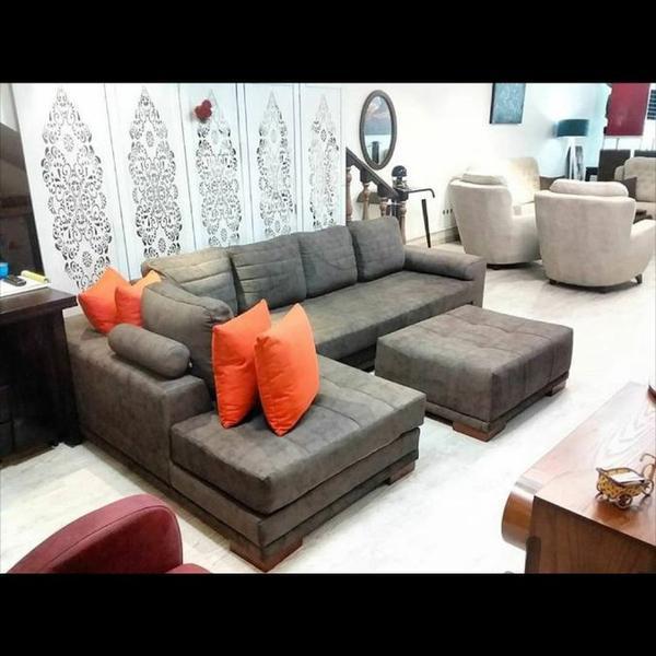 مبل راحتی مدل ال مود به همراه پاف|مبلمان و صندلی راحتی|تهران، اتحاد|دیوار