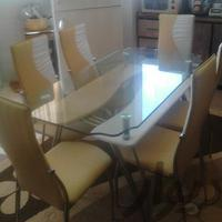 میز نهار خوری میز و صندلی بیرجند دیوار