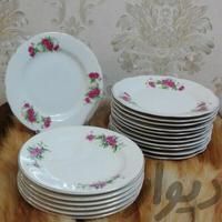 سه دست کیک خوری قدیمی گل سرخی|وسایل آشپزی و غذاخوری|تهران_پیروزی|دیوار