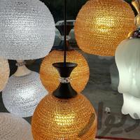 لوستر 3 شاخه رنگی پلاستیکی|لوازم روشنایی|تبریز|دیوار