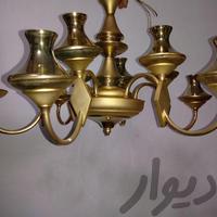 لوستر شش شاخه طلایی رنگ تقریبا نو|لوازم روشنایی|تبریز|دیوار