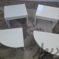 میژ عسلی با چوب گردو سفید ۴ عدد ارسال درب منزل میز و صندلی تهران_میدان آزادی دیوار